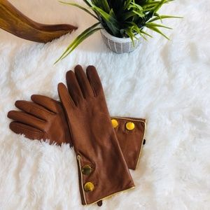 kate spade Button Leather Gloves NWT